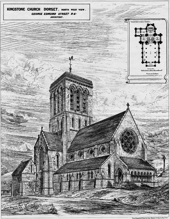 1880 &#8211; St. James Church, Kingstone, Dorset