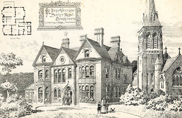 1894 – St. John's Vicarage, Surrey Road, Bournemouth, Dorset