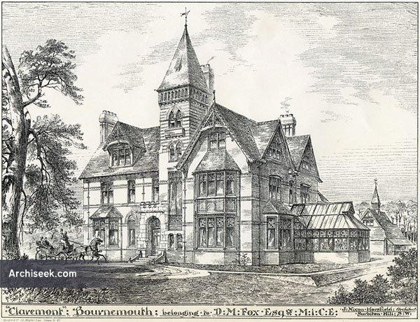 1884 – 'Claremont', Branksome, Poole, Dorset
