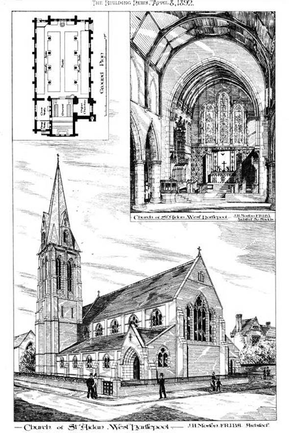 1892 &#8211; Church of St. Aidan, West Hartlepool, Durham