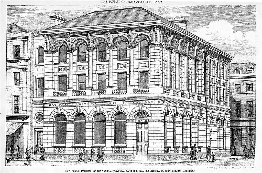 1876 – New Bank Premises, Sunderland