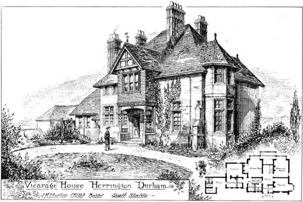 1888 &#8211; Vicarage House, Herrington, Durham