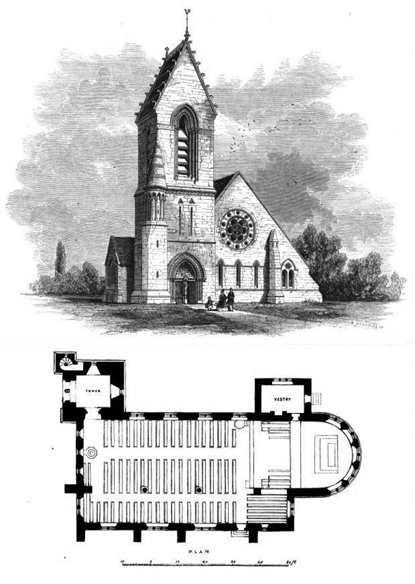 1863 – St. Cuthbert's Church, Durham