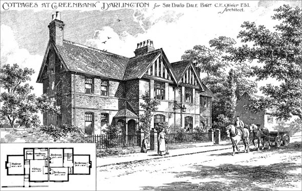 1897 – Cottages at Greenbank, Darlington, Co. Durham