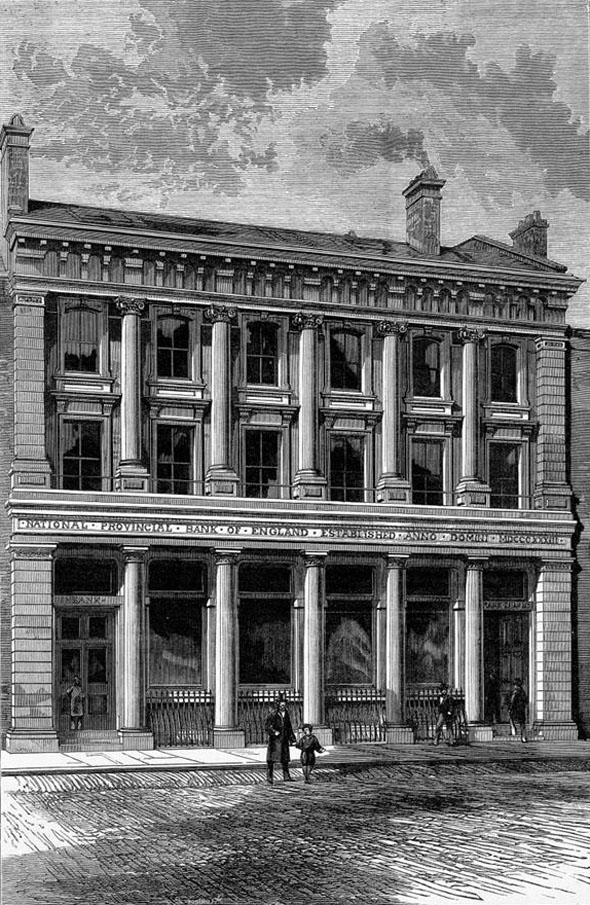 1876 &#8211; National Provincial Bank of England, Stockton-on-Tees, Durham
