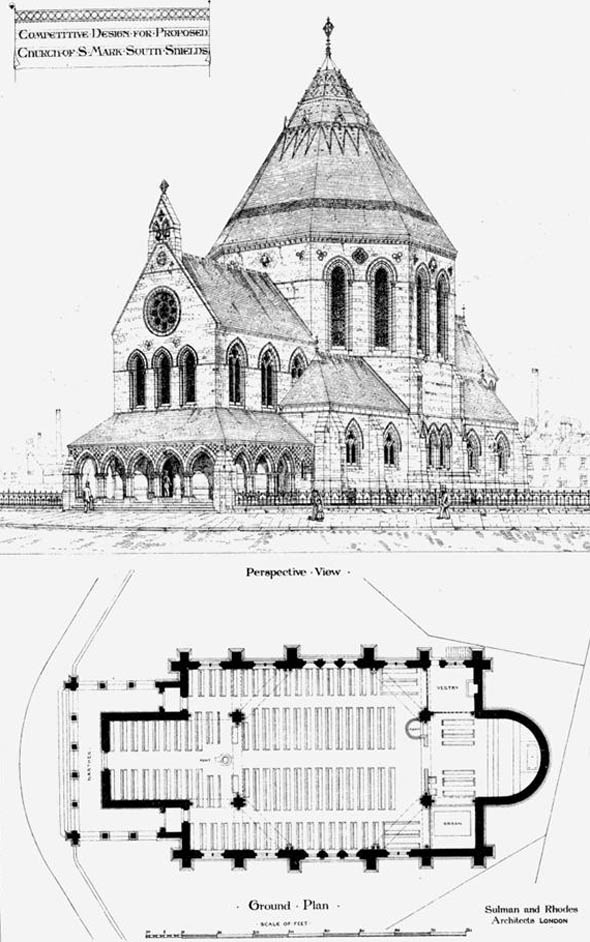 1873 &#8211; Competitive Design for Church of  St. Mark, South Shields, Durham