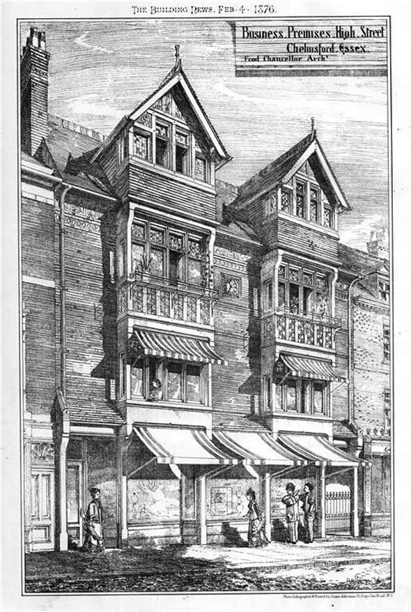 1876 – Business Premises, High Street, Chelmsford, Essex