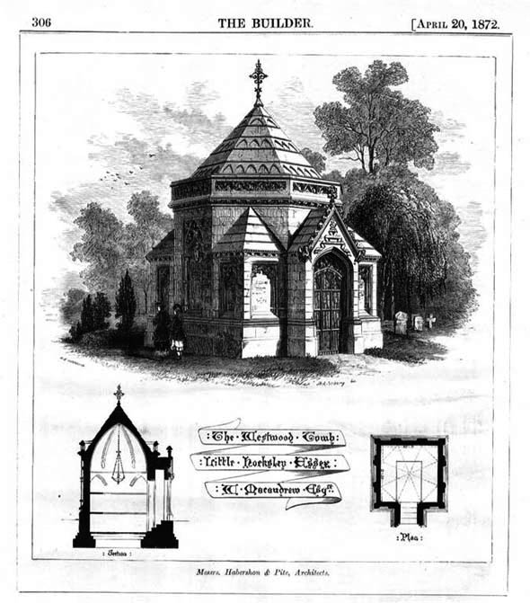 1872 &#8211; The Westwood Tomb, Little Horkesley, Essex