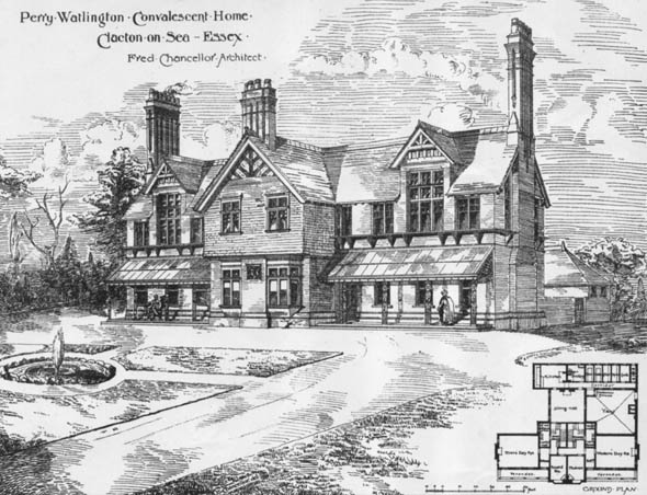 1884 &#8211; Convalescent Home, Clacton on Sea, Essex