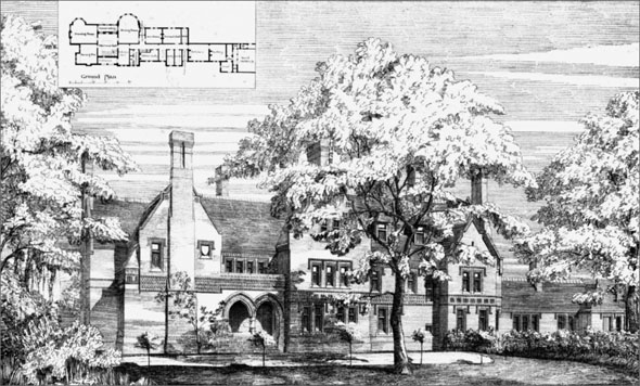 1876 &#8211; New Residence at Writtle, Chelmsford, Essex