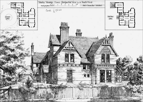 1876 &#8211; Takeley Vicarage, Essex