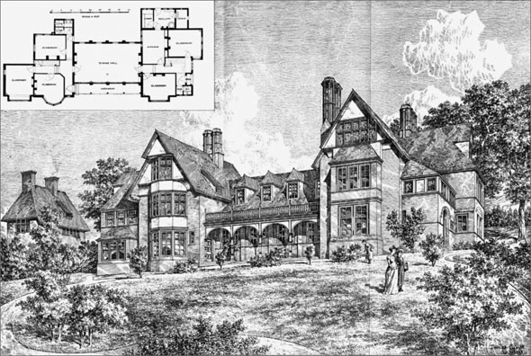 1886 &#8211; Dining Hall &#038; Classrooms , Salcombe College, Loughton, Essex