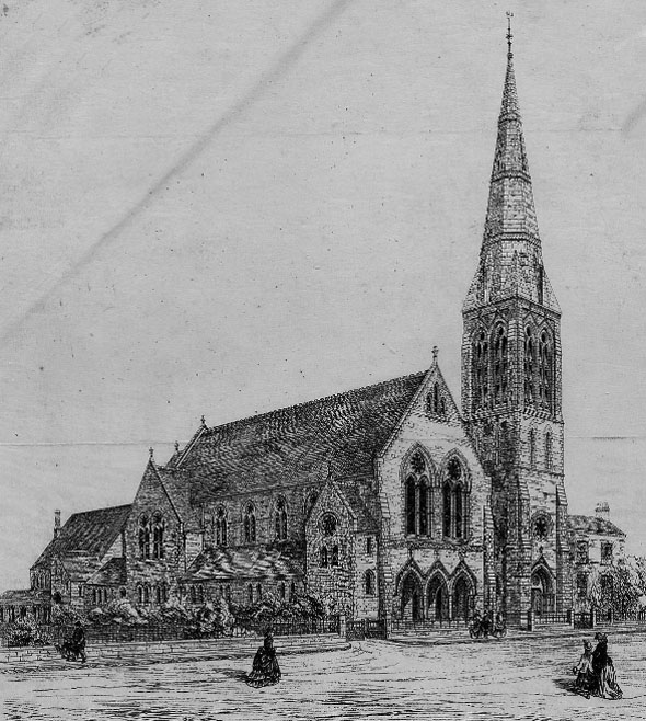 1874 – Congregational Church & Schools, Woodford, Essex