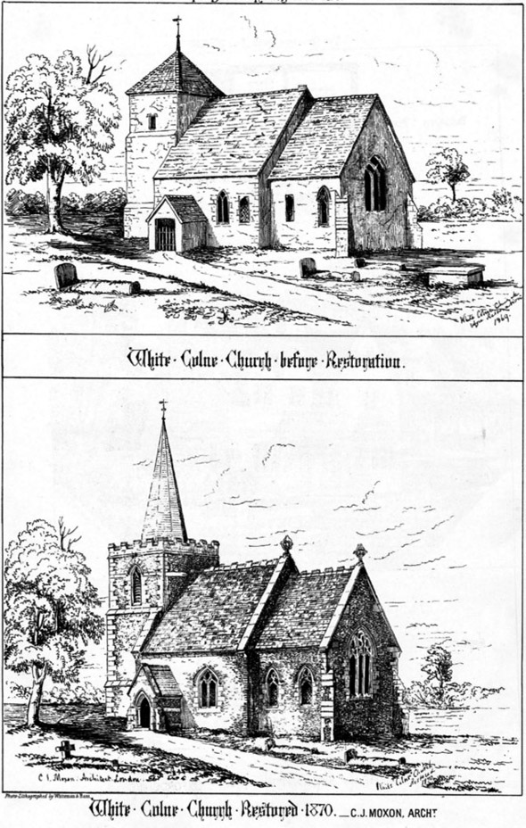 1870 – White Colne Church, Colchester, Essex