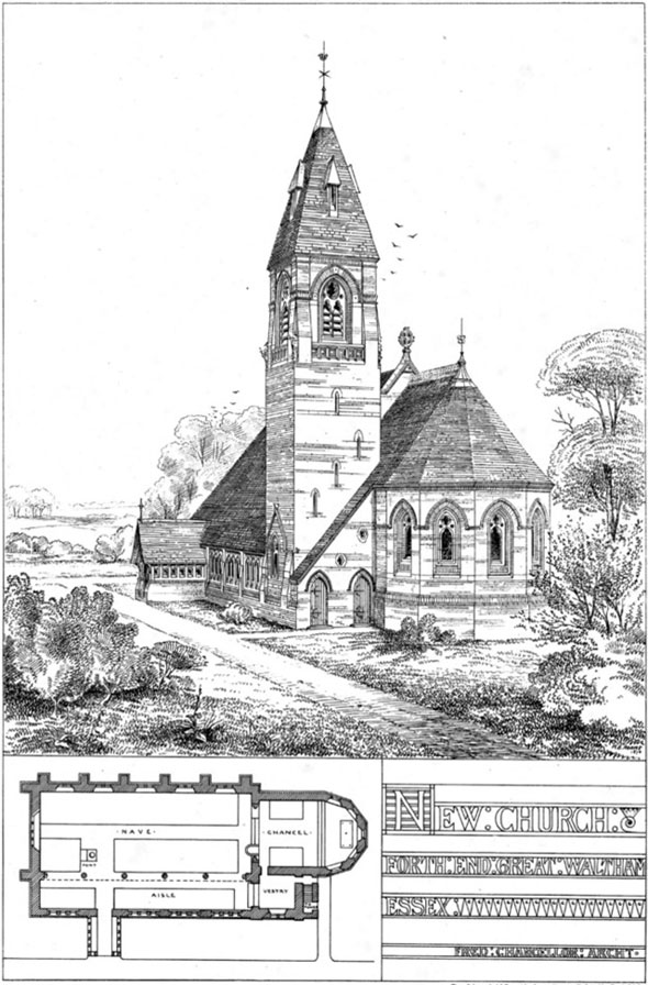 1870 &#8211; Church, Ford End, Great Waltham, Essex