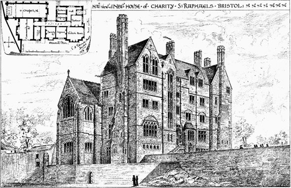 1879 &#8211; New House of Charity, St.Raphaels, Bristol, Gloucestershire