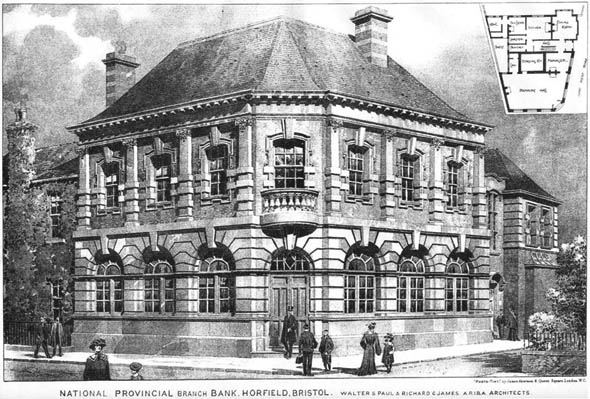1905 &#8211; National Provincial Bank, Horfield, Bristol, Gloucestershire