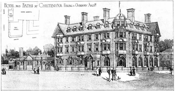 1908 – Hotel & Baths, Cheltenham, Gloucestershire