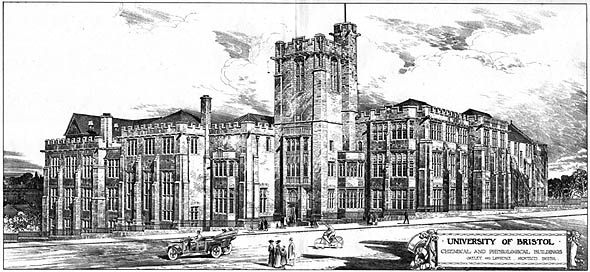 1910 – University of Bristol, Chemical & Physiological Buildings, Gloucestershire