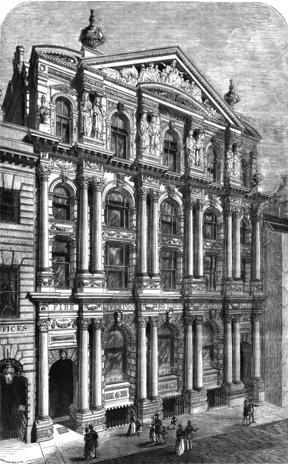 1870 &#8211; Liverpool &#038; London Insurance Offices, Bristol, Gloucestershire