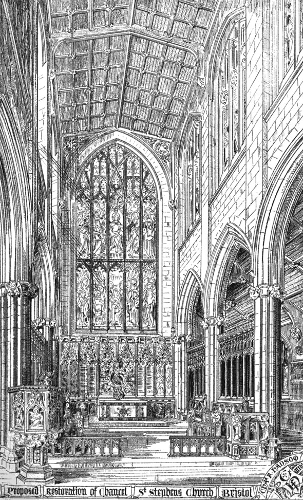 1875 &#8211; St. Stephen&#8217;s Church, Bristol, Gloucestershire