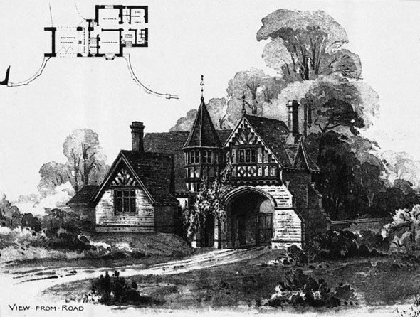 1892 &#8211; Lodge at Newent Court, Gloucestershire