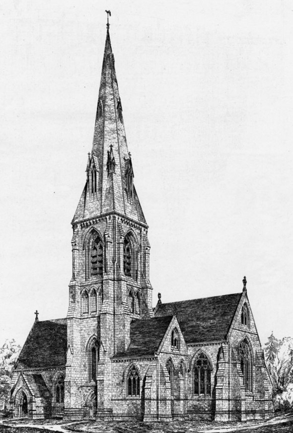 1870 &#8211;  St. Andrew&#8217;s Church at Toddington Park, Cheltenham, Gloucestershire