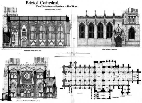 1888 &#8211; Bristol Cathedral, Gloucestershire