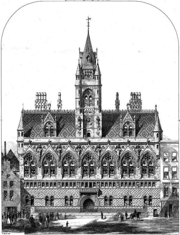 1871 – Premiated Design for Assize Courts, Bristol, Gloucestershire