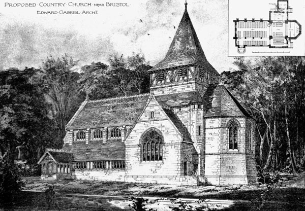 1895 &#8211; Proposed Country Church, Bristol, Gloucestershire