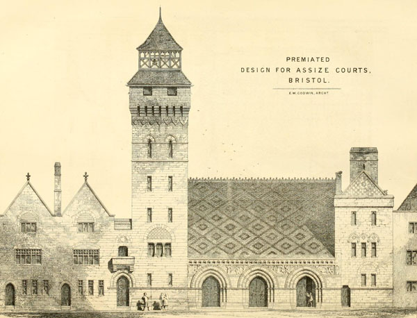 1868 – Godwin & Crisp's design for Bristol Assize Courts
