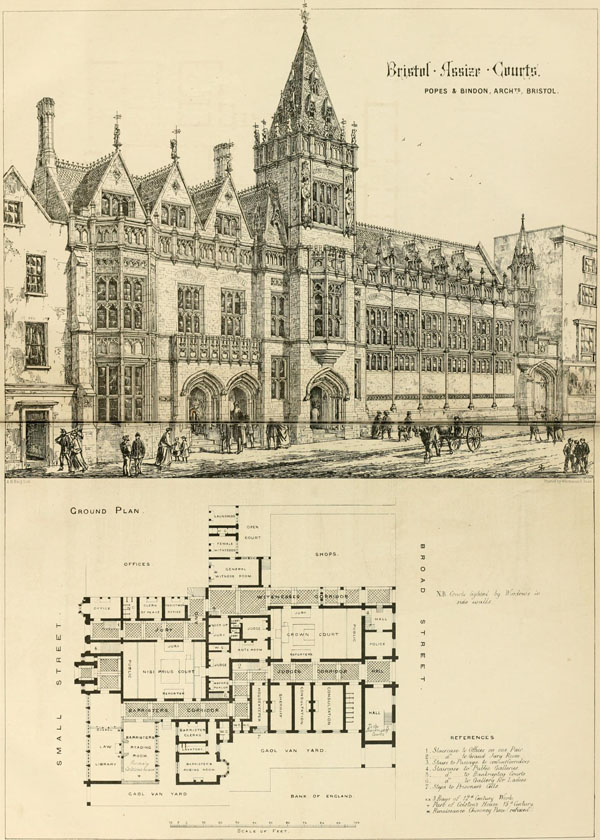 1871 – Selected Design for Bristol Assize Courts
