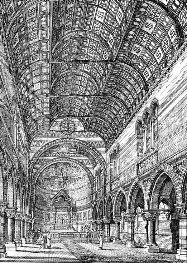 1874 – Interior of Church Now Being built Nr. Bristol, Gloucestershire