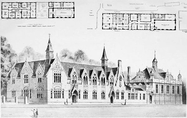 1899 – Public Library & Technical Schools, Gloucester, Gloucestershire