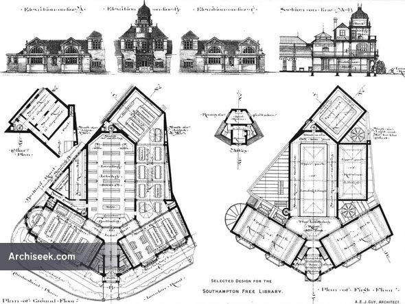 1891 – Southampton Free Library,  Hampshire