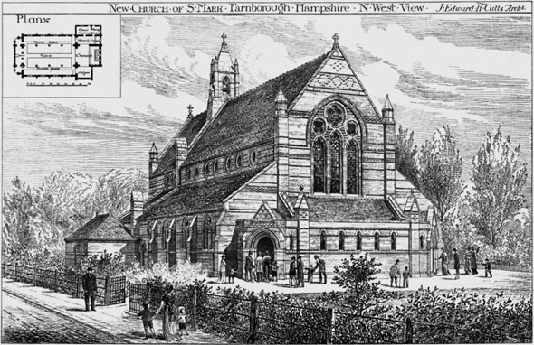 1889 &#8211; New Church of St. Mark, Farnborough, Hampshire