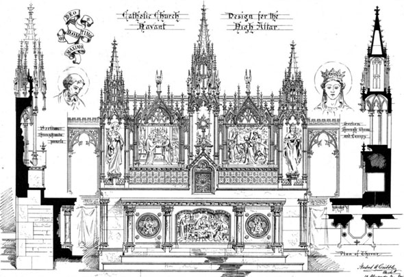 1881 &#8211; High Altar, Catholic Church, Havant, Hampshire