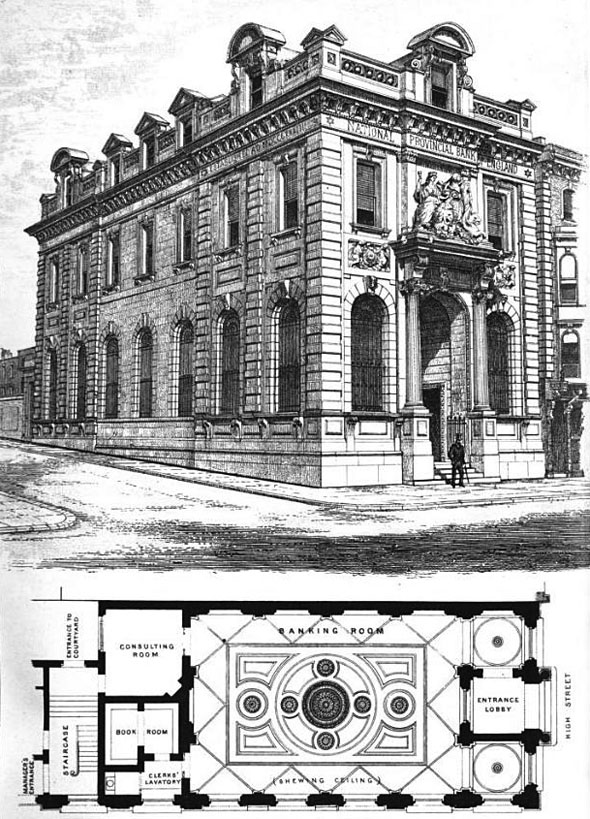 1875 &#8211; National Provincial Bank of England, Southampton, Hampshire