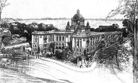 1905 &#8211; Bournemouth Municipal Buildings, Hampshire