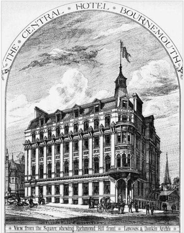 1886 &#8211; The Central Hotel, Bournemouth, Hampshire