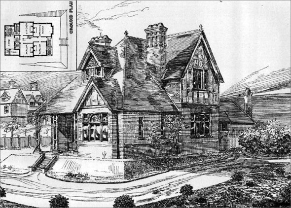 1888 &#8211; Villa at Shawford, Hampshire