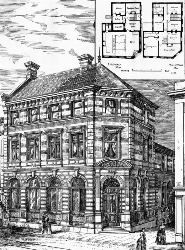 1887 &#8211; Capital &#038; Counties Bank, Portsmouth, Hampshire