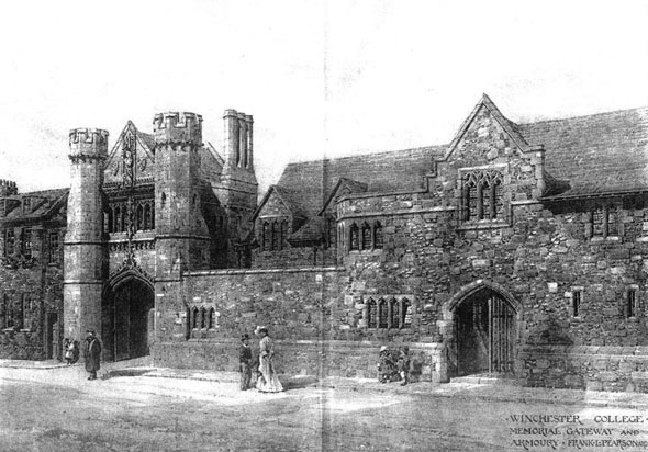 1908 &#8211; Memorial Gateway &#038; Armoury, Winchester College, Hampshire