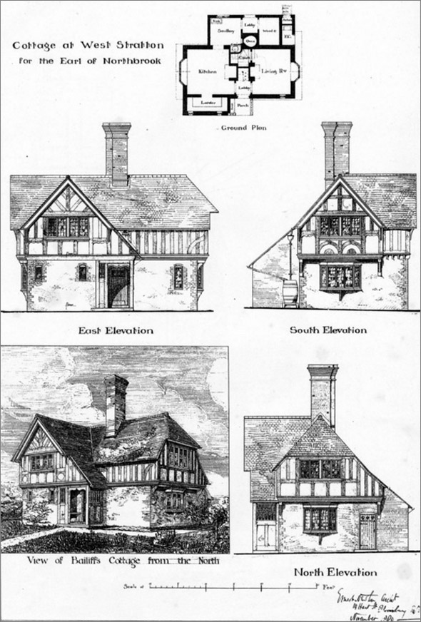 1881 &#8211; Bailiff&#8217;s Cottage at West Stratton, Hampshire