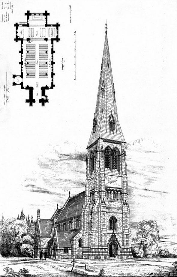 1878 &#8211; Church of the Holy Trinity, Privett, Hampshire