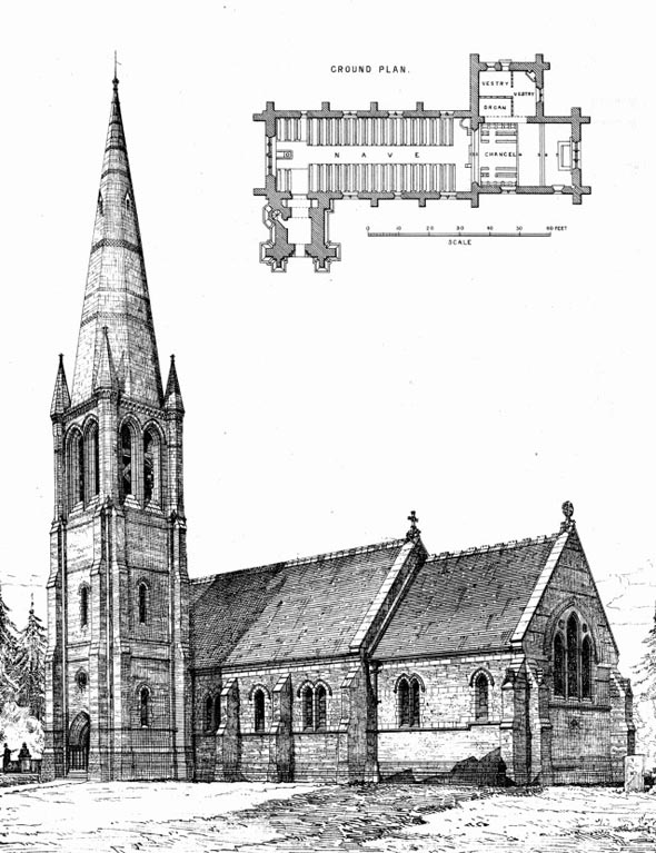 1872 &#8211; All Saints Church, Hordle, Hampshire