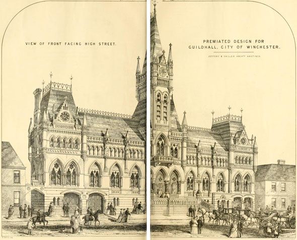 1871 &#8211; Premiated Design for Winchester Town Hall, Hampshire