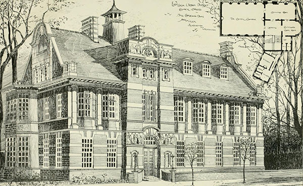 1898 – Design for Urban District Offices, Eastleigh, Hampshire
