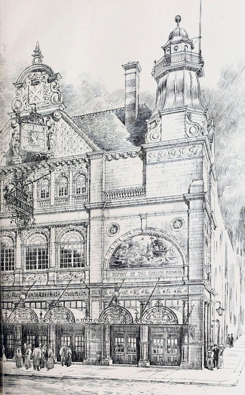 1898 – New Palace Theatre, and Great Western Hotel, Plymouth