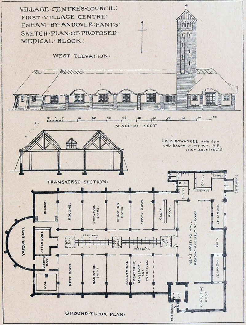 1918 – Design for Village Centre, Enham Alamein, Hampshire